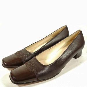 Salvatore Ferragamo Brown Captoe Luxury Flats 9AAA